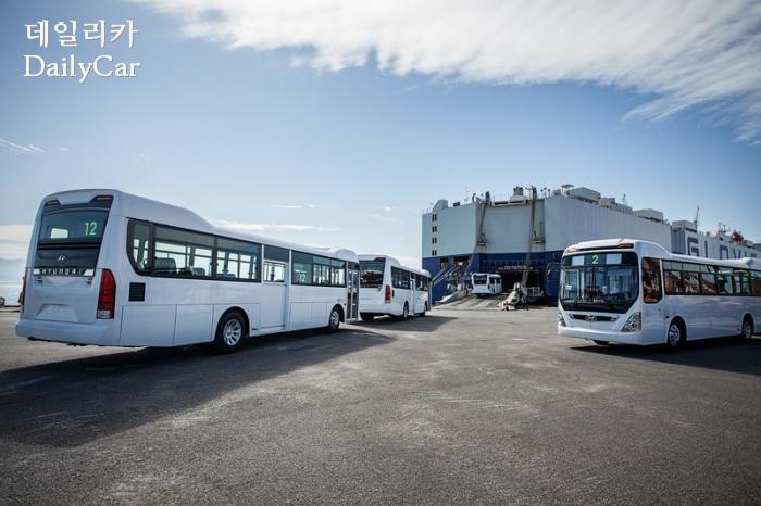 현대차, 투르크메니스탄에 시내버스 초도물량 공급