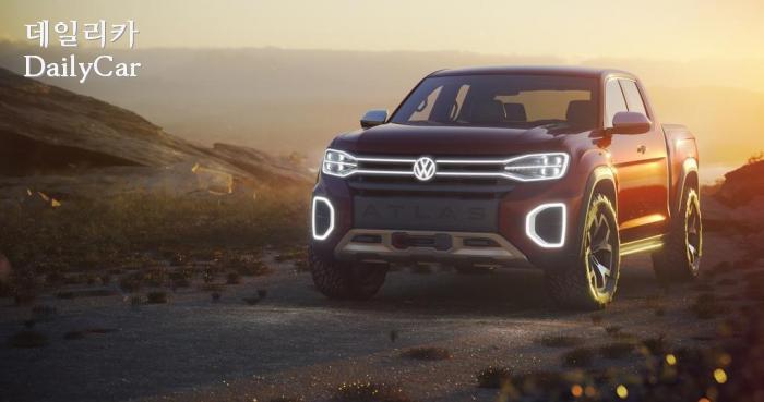 폭스바겐, 픽업 트럭 콘셉트 '아틀라스 탄오크' 양산 가능성.....