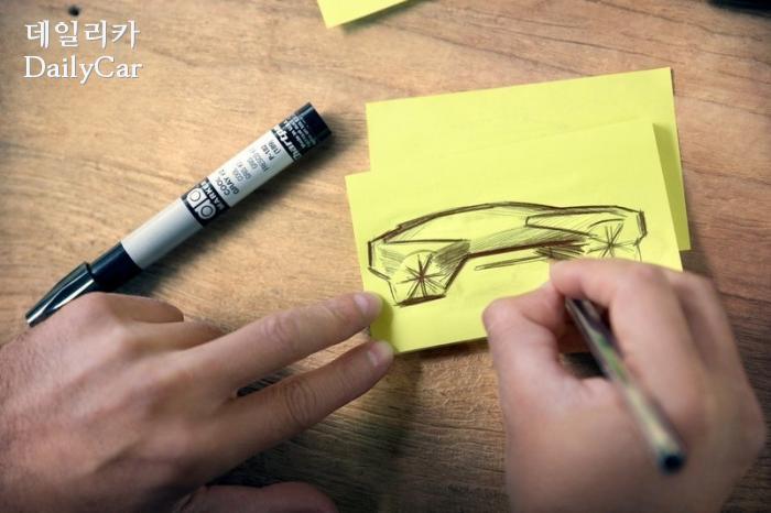 BMW, 비전 i넥스트 스케치 공개..9일 '하늘'에서 공개 '눈길...