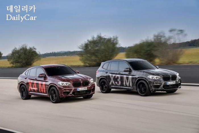 BMW, X3·X4 M 공개 계획..AMG GLC 63과 경쟁 전망