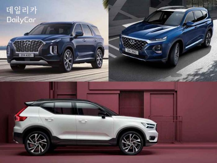 [2019 올해의 차] 올해 최고로 뽑힌 'SUV'는?..3개 후보 살펴...