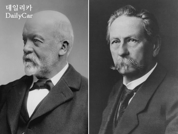 칼 벤츠(좌), 고틀립 다임러(우)